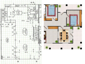 Floor Plan Textured
