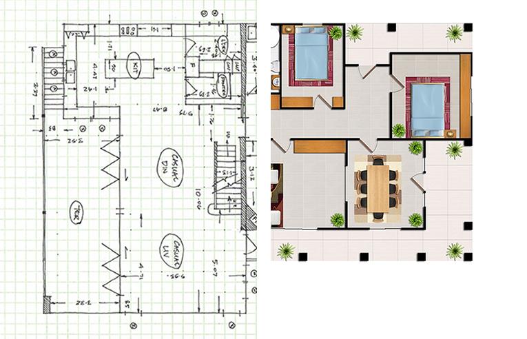 Floor Plan Textured