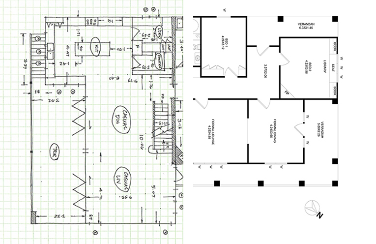 Floor Plan B&W