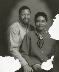 portrait, couple, black and white photo