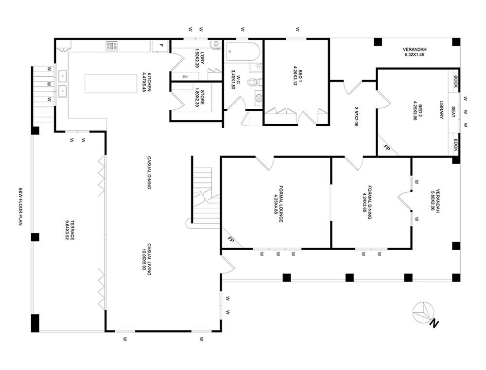After-Floor Plan Black & White