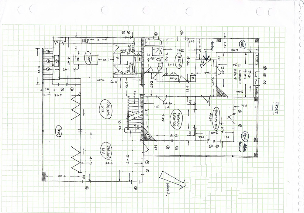 Before-Floor Plan Black & White