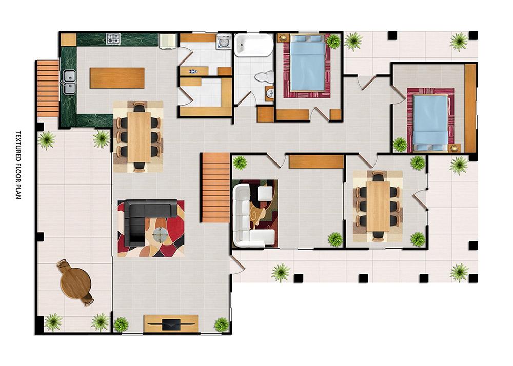 After-Floor Plan Textured