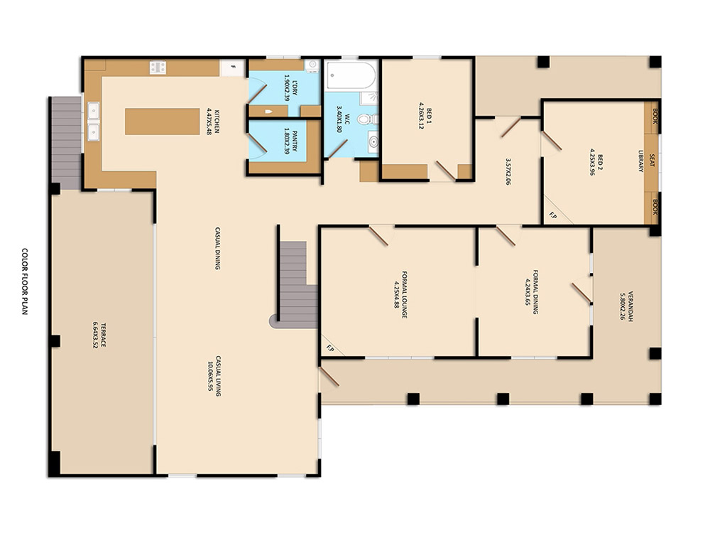 After-Floor Plan Colored